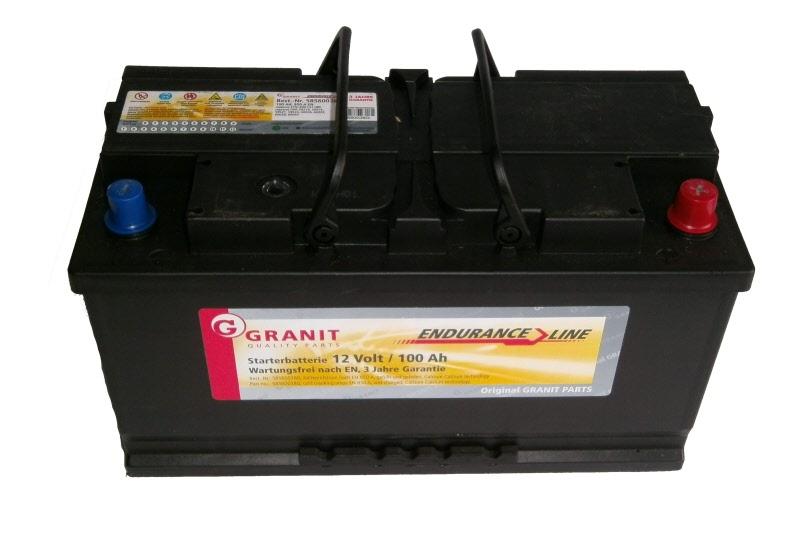 batterie starterbatterie 12v 100 ah granit endurance. Black Bedroom Furniture Sets. Home Design Ideas