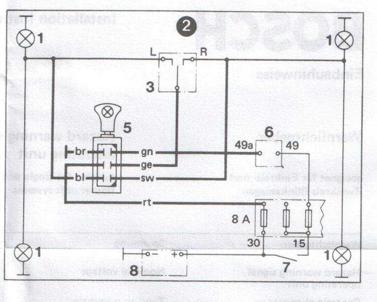 bosch warnblinkschalter warnlichtschalter 0336851008. Black Bedroom Furniture Sets. Home Design Ideas